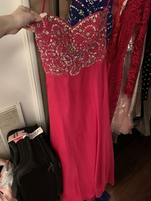 Hot Pink Strapless Beaded Prom Dress for Sale in Richland, WA