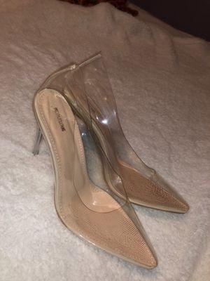 Pretty Little Thing Clear Heels Size:6 for Sale in San Bernardino, CA