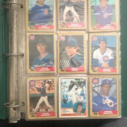 Binder Of Mixed Cards From 80s Baseball for Sale in Glendora,  CA