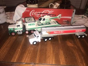 Vintage Hess truck & Exxon truck for Sale in Franklinville, NC