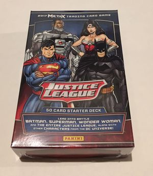 Justice League MetaX Panini Trading Card Game Starter Deck for Sale in Ashburn, VA