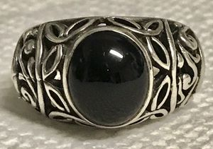 Sz 7.5 Sterling and black onyx ring for Sale in Ponte Vedra Beach, FL