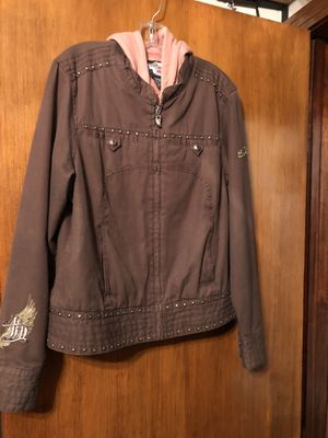 Ladies Harley Davidson Jacket with Pullout Sleeveless Hoodie for Sale in Houston, TX