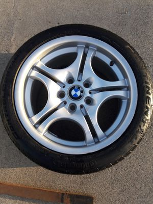 BMW WHEEL & TIRE SET - CONTINENTAL CONTROL CONTACT 245/225, 40/ 45 ZR17 $800 for Sale in Sacramento, CA