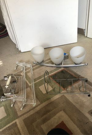 Bathroom light and accessories for Sale in Kent, WA