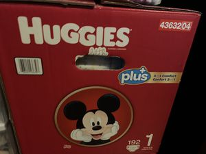 One box of Huggies diapers size 1 (192 count) for Sale in San Jose, CA
