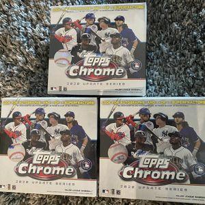 2020 Topps Chrome Update Series MLB Baseball Mega Box lot of 3 for Sale in Boca Raton, FL