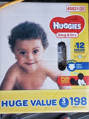 Huggies size 3 diapers for Sale in Clovis, CA
