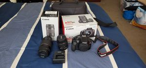 Canon EOS Rebel T6 EF-S 18-55mm and EF 75-300mm for Sale in Downey, CA