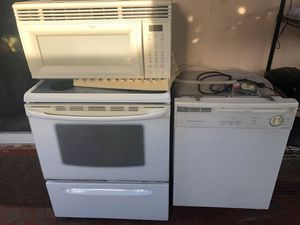Flat surface stove, over the range microwave and dishwasher for Sale in Hialeah, FL