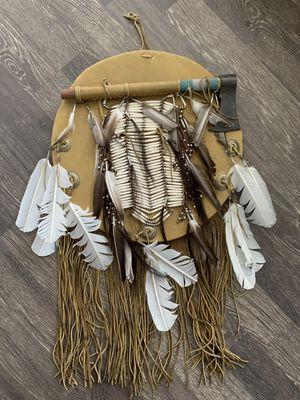 Leather Native American War Shield for Sale in La Costa, CA