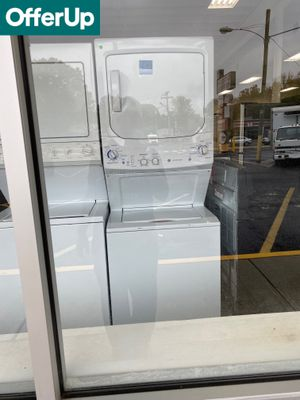 WE DELIVER! GE Washer Electric Dryer Set Stacked Laundry Center #773 for Sale in Levittown, PA