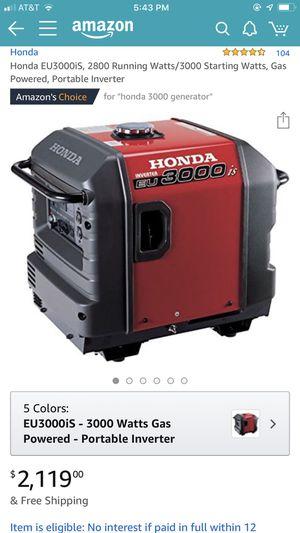 Honda EU3000iS Generator for Sale in VA, US
