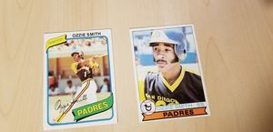 1979 Topps OZZIE SMITH #116 Rookie with 1980 O. SMITH #393 CARDS-MINT for Sale in Glendora, CA