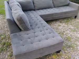 Z Gallerie Grey Sectional Couch for Sale in Austin, TX