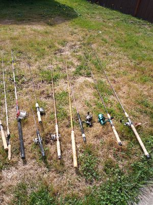 Fishing poles and reels for Sale in Monroe, WA