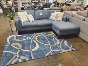 Fabric Sectional Sofa, Blue for Sale in Santa Ana, CA