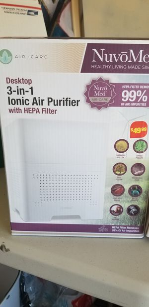air purifier 3 in 1 desktop with hepa filter for Sale in El Mirage, AZ