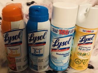Set of Four Lysol Disinfectant Spray for Sale in Olive Branch,  MS