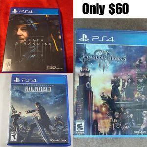 Death Stranding , Final Fantasy XV , and Kingdom Hearts 3 for Sale in Los Angeles, CA