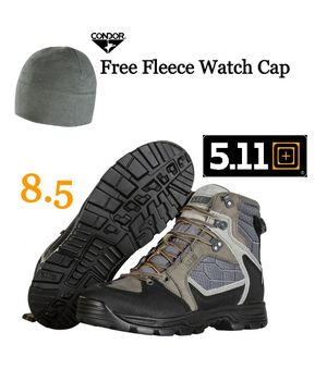 New Men's 5.11 Tactical Hiking/Tactical Boots, Gunsmoke + Free Condor Watch Cap for Sale in Lake Forest, CA