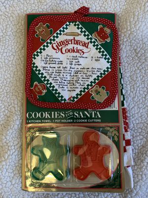 Cookies for Santa Kitchen Towel, Pot Holder & Cookie Cutter for Sale in Glendale, AZ