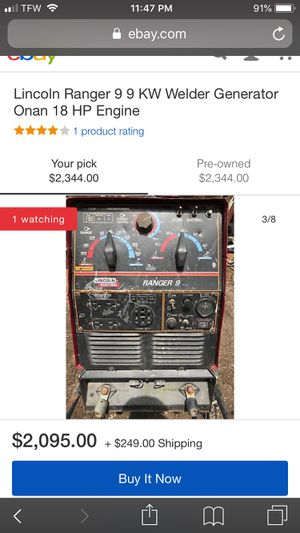 Lincoln welder / generator ranger 9 for Sale in Portland, OR