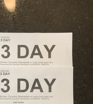Country Stampede - 3 Day GA Tickets for Sale in Wichita, KS