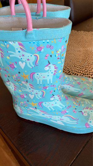 Girls rain boots unicorns for Sale in Chicago Ridge, IL