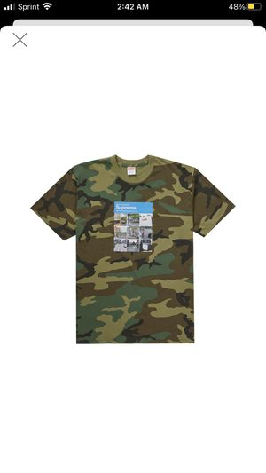 Supreme captcha tee shirt camo size large brand new for Sale in Bellevue, WA