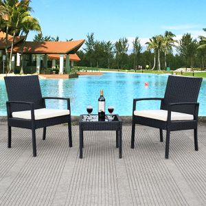 3 pcs Outdoor Rattan Patio Furniture Set for Sale in Canyon Lake, CA