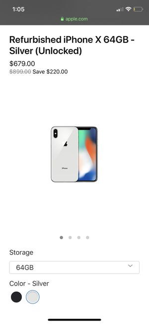 iPhone X excellent condition 64GB for Sale in Seattle, WA