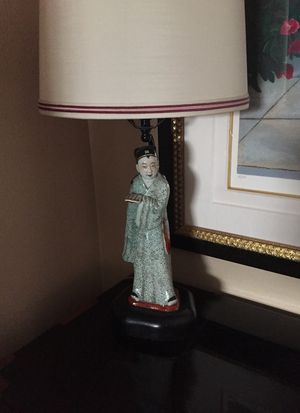 Antique Chinese Philosopher table lamp for Sale in Lake Forest, CA
