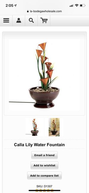 Calla Lily Water Fountain for Sale in New York, NY