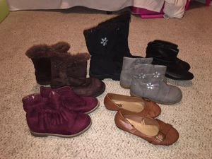 Size 11 &12 girls boots. for Sale in Alpharetta, GA