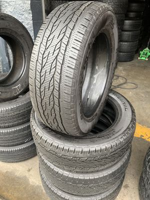275/55/20 set of Continental tires installed for Sale in Rancho Cucamonga, CA