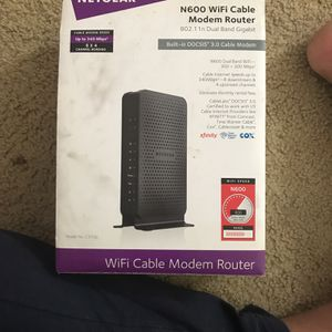 NETGEAR N600 WiFi Cable Model Router Model C3700 for Sale in Irving, TX
