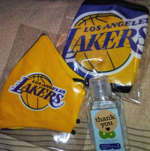 $10 each - LAKERS M@$K$ + Free Sml Hnd Sntzr for Sale in Menifee, CA