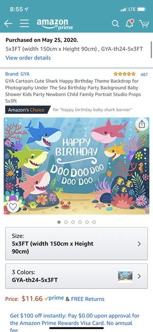 baby shark party decor for Sale in Lexington, SC