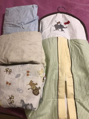 Baby crib bed sheets, diaper holder for Sale in Gilbert, AZ