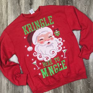 M* Vintage Christmas pullover* Kringle here to mingle for Sale in Sagle, ID