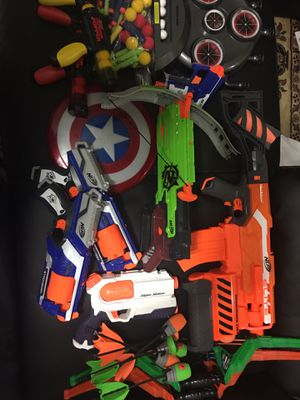 Variety of toy guns and bows. Take everything you see for $20 for Sale in Centreville, VA