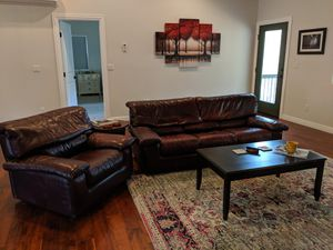 Genuine Buffalo Leather Sofa Couch & Chair for Sale in Pine, AZ