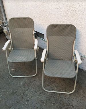 2 FOLDING CHAIRS BOTH FOR for Sale in Fresno, CA