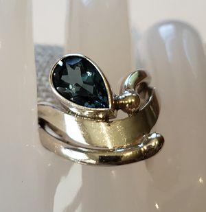 Natural Blue Topaz Ring for Sale in Leavenworth, WA