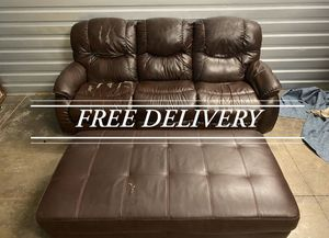 Lazy boy double recliner and ottoman (free delivery for Sale in Sherwood, OR