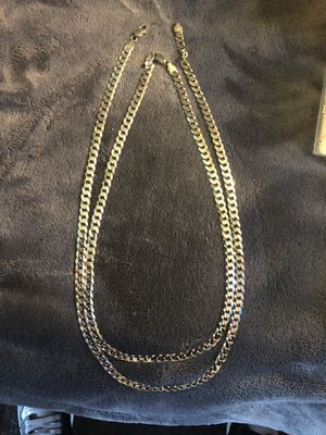 925 Italy real silver chains One size 22 inch double the size 24 inch for Sale in San Diego, CA