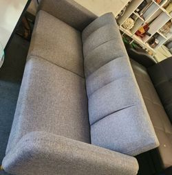 Brand New Grey Linen Mid Century Futon Sofa Bed for Sale in Silver Spring,  MD