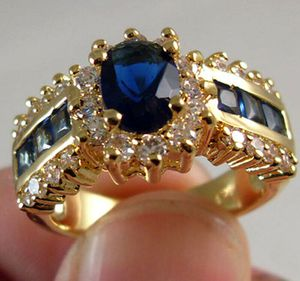 Exquisite Blue Sapphire CZ Wedding Ring Jewelry Size 7 / 8 and 10*See My Other 200 Items* for Sale in Palm Beach Gardens, FL
