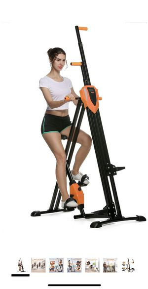 ANCHEER Vertical Climber Folding Exercise Climbing Machine, Exercise Equipment Climber for Home Gym, Stair Stepper Exercise for Home Body Trainer (Or for Sale in Boston, MA